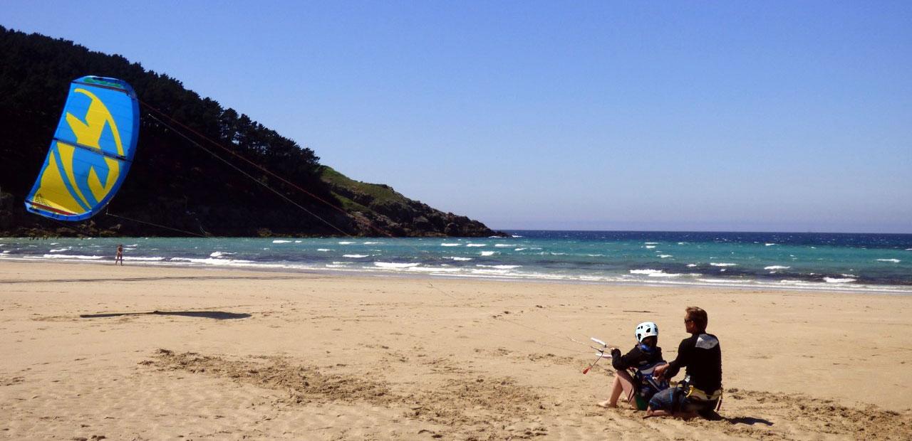 cours de kitesurf en galice